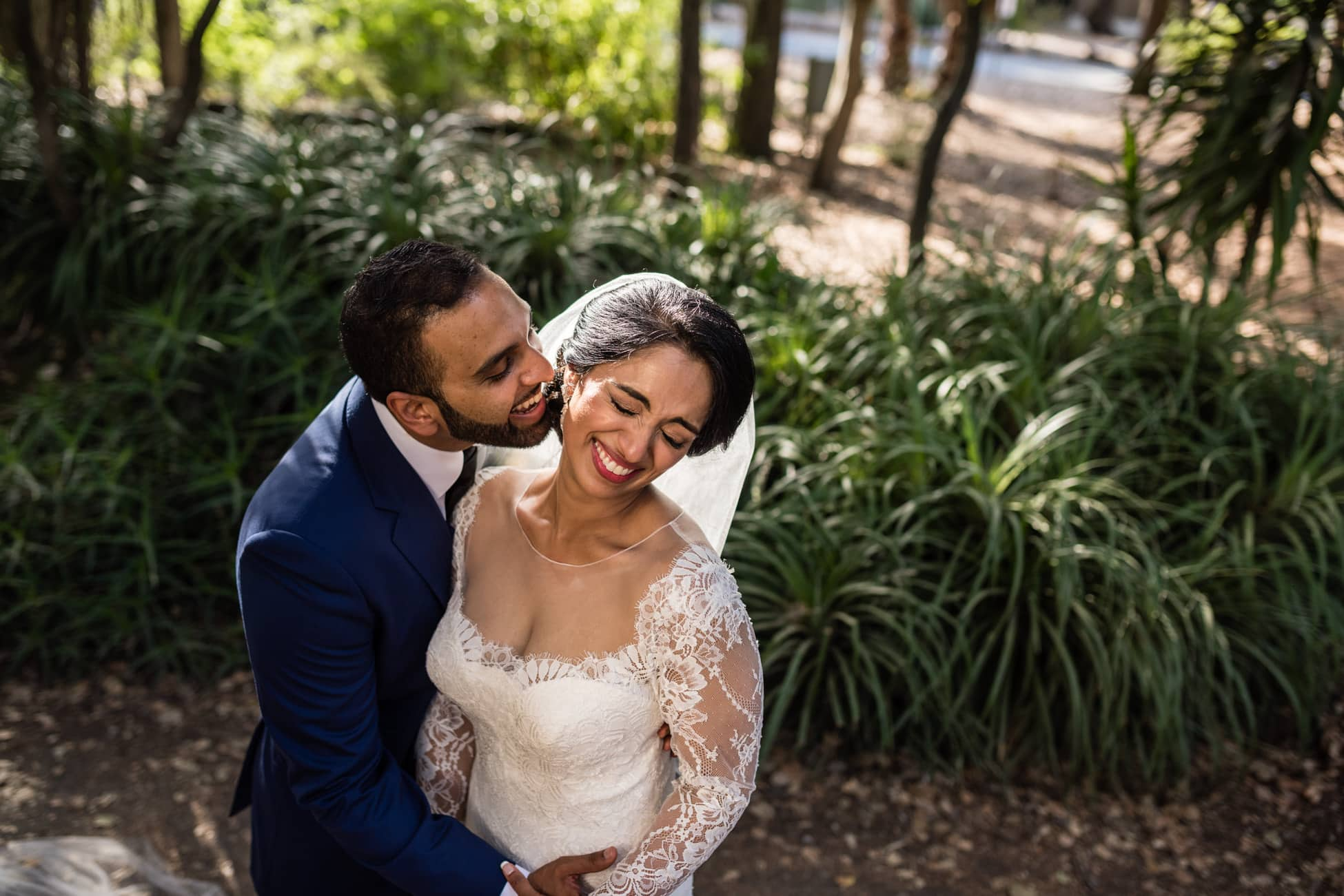 stanford memorial church wedding portrait
